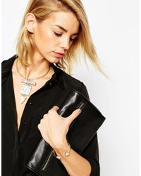 ASOS - Metallic Open Triangle Cuff Bracelet - Lyst