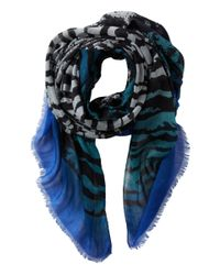 San Diego Hat Company - Blue Bss1402 Oversized Houndstooth Pattern Fabric Scarf - Lyst
