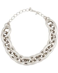 Kenneth Jay Lane | Metallic Heavy Oval-link Chain | Lyst