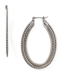 Aqua | Metallic Marni Braided Oval Hoop Earrings | Lyst