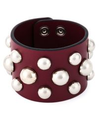 RED Valentino - Natural Studded Bracelet - Lyst