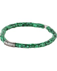 Tateossian | Green Malachite Disc Bracelet for Men | Lyst