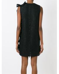 Amen - Black Lace Back Zip Dress - Lyst