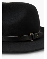 Mango | Black Wool Fedora Hat | Lyst