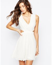 ASOS | White Side Cut Out Mini Dress | Lyst