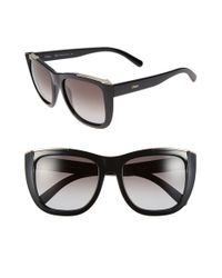 Chloé | Black 'dallia' 55mm Sunglasses | Lyst