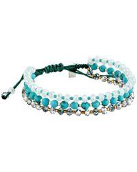 Chan Luu - Blue 6 34 Turquoise Mix Adjustable Single Bracelet - Lyst
