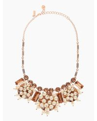 kate spade new york - Pink Clink Clink Short Necklace - Lyst