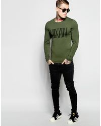 ASOS | Extreme Muscle Long Sleeve T-shirt With Roman Numeral Print In Green for Men | Lyst
