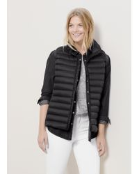 Violeta by Mango | Black Quilted Gilet | Lyst