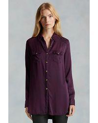 True Religion | Purple Georgia Silk Womens Shirt | Lyst