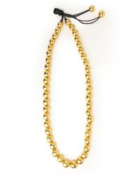 Natori - Metallic Long Beaded Necklace - Lyst