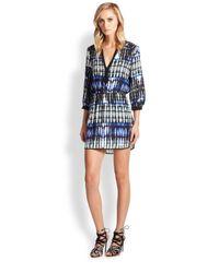 Parker | Blue Mallory Silk Ikat Shirtdress | Lyst