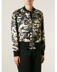 Neil Barrett - Natural Camouflage Bomber Jacket for Men - Lyst