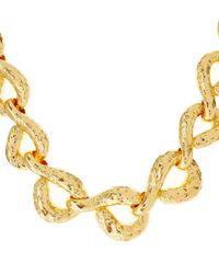 Alexis Bittar | Metallic Gold-Plated Rocky Textured Link Necklace | Lyst