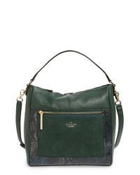 kate spade new york - Green Chatham Lane Harris Leather Satchel - Lyst