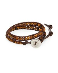 Jan Leslie | Brown Leather Wrap Bracelet for Men | Lyst