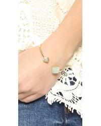 Michael Kors - Blue Amazonite Flex Cuff Bracelet - Lyst