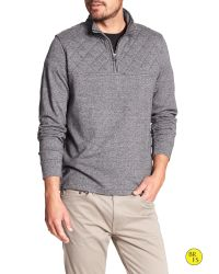 Banana Republic | Gray Factory Quilted Half-zip Pullover | Lyst