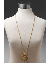 Kenneth Jay Lane | Metallic Gold Cross Medallion Necklace | Lyst