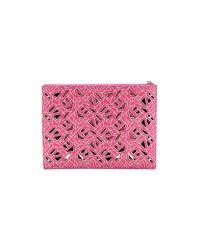 KENZO - Pink Perforated Flat Clutch - Fuschia - Lyst
