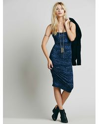 Free People - Blue Farrah Exclusive Spaghetti Dress - Lyst