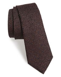Rag & Bone | Brown 'heathered Dot' Silk & Wool Tie for Men | Lyst