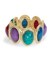 Catherine Stein | Metallic Bezel Stone Stretch Bracelet | Lyst