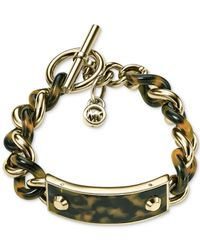 Michael Kors | Metallic Twisted Plaque Bracelet | Lyst