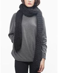 Wool And The Gang | Black Yummy Scarf | Lyst