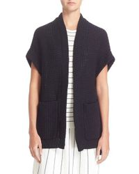 Theory | Blue 'ibisco Fremont' Cotton Cardigan | Lyst