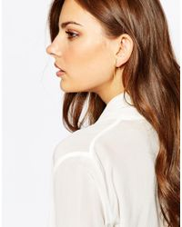 Pieces | Metallic Ropa Chain Back Earrings | Lyst