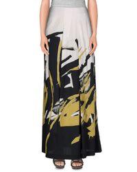 Piazza Sempione - Black Long Skirt - Lyst