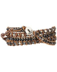 Chan Luu - 33 Blue Pietersite Mix Wrap Bracelet for Men - Lyst