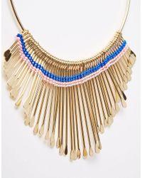 Monki   Multicolor Emily Graduated Drop Torque Necklace   Lyst