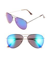 Vince Camuto | Metallic 60mm Aviator Sunglasses | Lyst