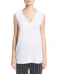 Equipment | White 'otis' Sleeveless Silk Top | Lyst