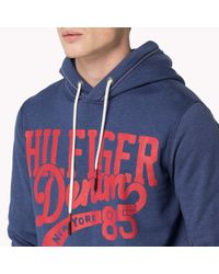 Tommy Hilfiger - Blue Cotton Blend Sweater for Men - Lyst