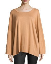 Michael Kors - Natural Oversized Long-sleeve Top - Lyst