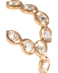 Lito - Metallic 18K Rose Gold Oval Ring With Diamonds - Lyst