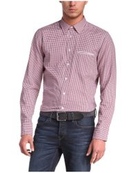 BOSS Orange | Red Regular-fit Cotton Shirt With Vichy Pattern 'cieloebue' for Men | Lyst