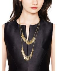 kate spade new york | Metallic Fancy Flock Double Row Necklace | Lyst