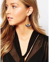 Ashiana | Metallic Statement Drop Earrinsg | Lyst