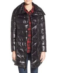 Vince Camuto | Black Double-Breasted Down Coat | Lyst