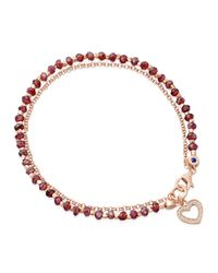 Astley Clarke | Red Spinel Heart Friendship Bracelet | Lyst