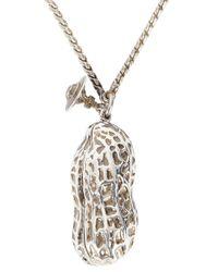 Vivienne Westwood | Metallic Silver Tone Peanut Locket Necklace for Men | Lyst