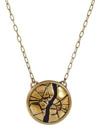 Pamela Love - Metallic Lapis Titan Medallion Necklace - Lyst