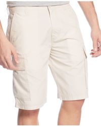 American Rag - White Solid Cargo Shorts for Men - Lyst
