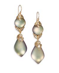 Alexis Bittar | Metallic Imperial Lucite & Crystal Lace Double-Drop Earrings | Lyst