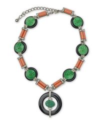 Kenneth Jay Lane | Multicolor Art Deco Necklace | Lyst
